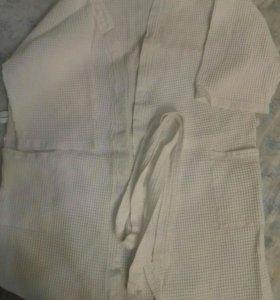 Халат из вафельной ткани