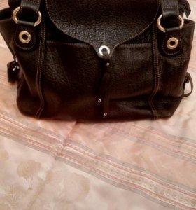 Кожаная сумка Lamarthe