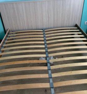 Кровать цвет карамель 160-200мм и матрас бесплатно