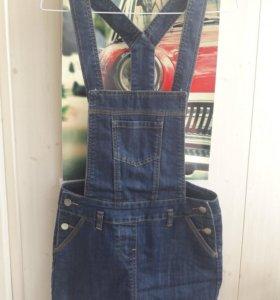 джинсовый комбинезон с юбкой