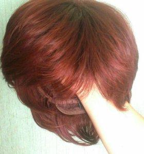 Женский парик цвета махагон новый
