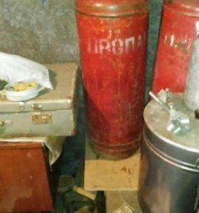 Балон газовый 50 литров, 3 штуки,плита