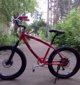 Велосипед 24 плюс, полуфэт-байк мини-крузер