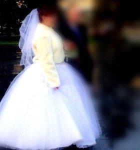 Свадебное платье р 54-56