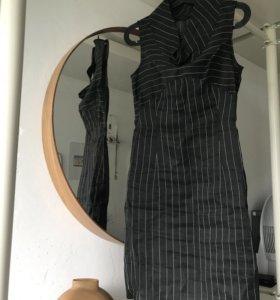 платье-футляр лён vassa&go city 42-44(s)