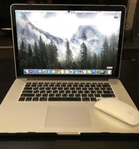 "MacBook Pro 15"" 2015 года + кейс и мышка Apple"