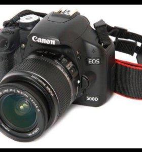 Зеркальный фотоаппарат Cannon 500D