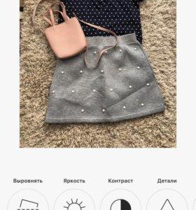 Юбка ,футболка -поло ,сумка