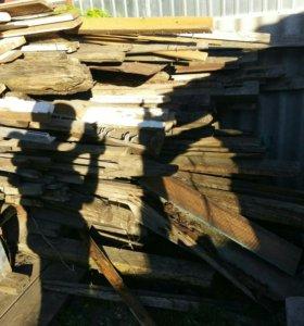 Доски, бревна на дрова.