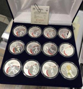 Набор серебряных 3 рублёвых монет ФИФА 2018