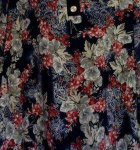 Блуза рукав три четверти шифон от 48 до 58