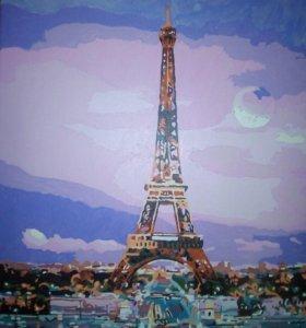 """Картина """"Вечерний Париж""""."""