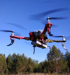 Большой квадрокоптер с GPS и видеокамерой
