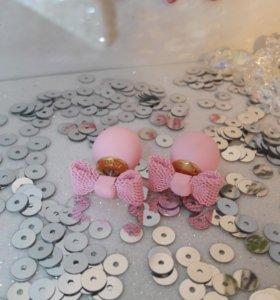Серьги-гвоздики(новые)