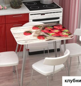 Кухонный стол с фотопечатью. Новый. В наличии.