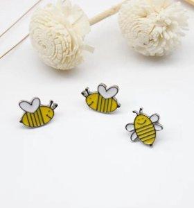 Брошки в виде пчёлок 🐝🐝🐝