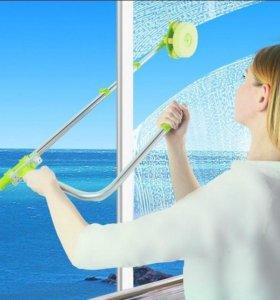 Телескопическая щётка для мытья окон