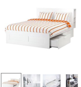 Кровать икеа с выдвижными ящиками и изголовье