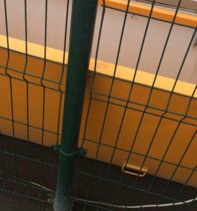 #забор секционный 3D