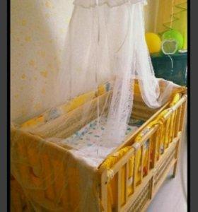 Кроватка с люлькой