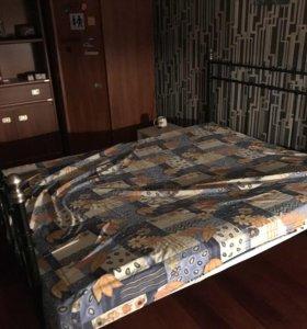Каркас железной кровати икеа 180х200 чёрный