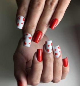 Гель лак; Наращивание ногтей