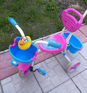 Велосипед  детский с ручкой для родителей.