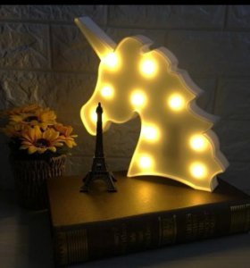 Красивый светильник Единорог новый
