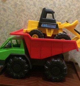 Самосвал + трактор