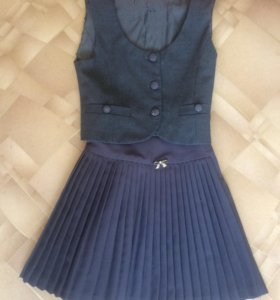 Школьная форма (юбка+жилетка)