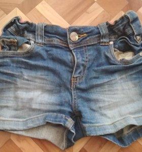 Джинсовые шорты детские