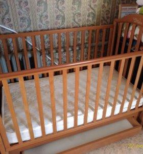 Детская кроватка PALI 125*65 + матрас