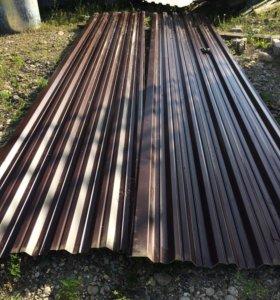 Профностил 0.5 мм 6 метровые листы новые 100 кв