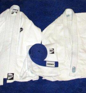 Кимоно 7-10лет и синий пояс