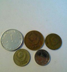 60 Монет СССР , России и зарубежных государств