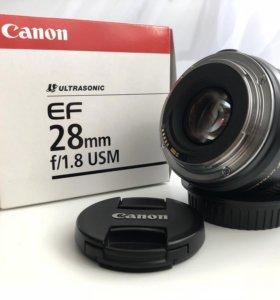 Canon EF 28 mm f1/8 USM