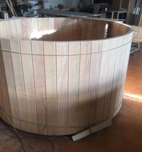 Купель из лиственницы, диаметр 2 метра