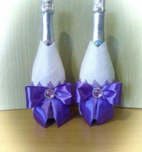 Свадебное шампанское (оформление)