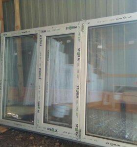 Окна  двухкамерные пластиковые