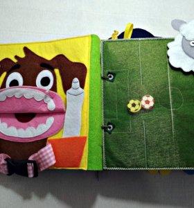 Развивающие книги из фетра для малыша