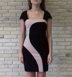 Платье Tally Weijl черно-розовое