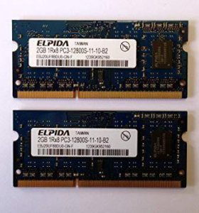 Elpida 4GB (2 x 2GB) 1Rx8 PC3-12800S-11-10-B2