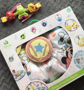 Развивающий коврик Disney + игрушка в подарок