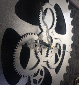 Часы настенные шестерёнки лофт