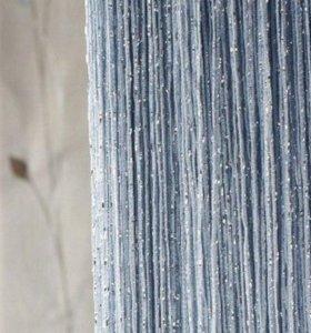 новые нитяные шторы с люрексом