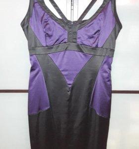 Платье атласное 46-48 р.