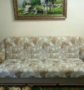 Диван (книжка) и два кресла (кровать)