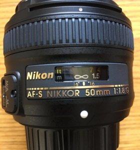 Nikon 50mm f/1.8G AF-SNikkor Ростест Новый
