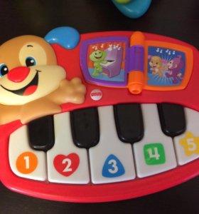 Музыкальная игрушка Fisher-Price Пианино-щенок