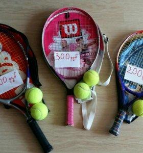 Теннисные ракетки Wilson и Head